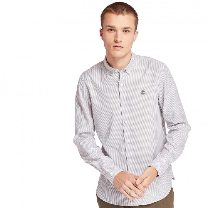 TIMBERLAND LS ELA RIVER ELEVATED OXFORD STRIPE SHIRT