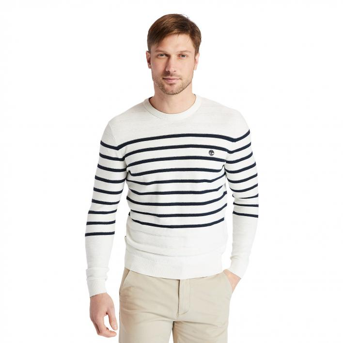 TIMBERLAND LS TEXTURED STRIPED SWEATER