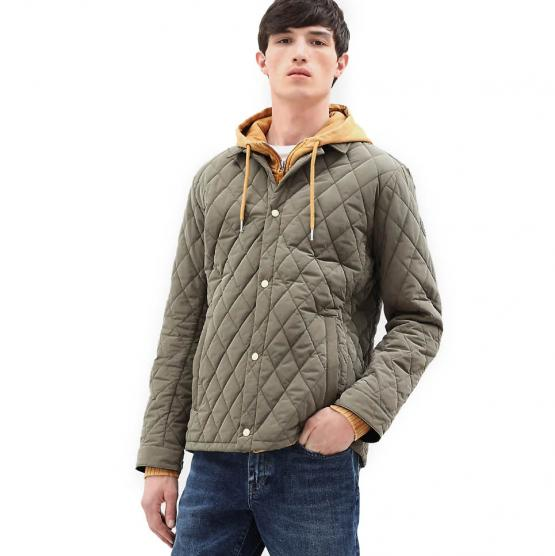 TIMBERLAND MOUNT CRAWFORD QUILTED OVERSHIRT GRAPE