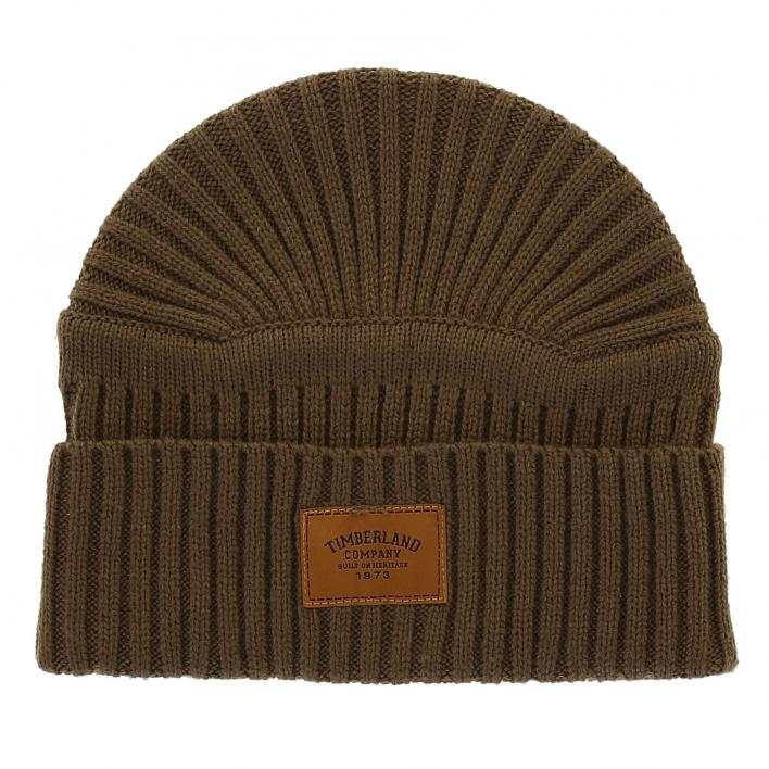 TIMBERLAND RIBBED BEANIE GRAPE LEAF