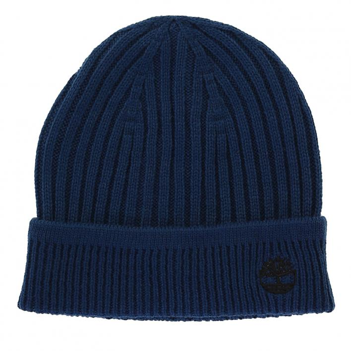 TIMBERLAND SOLID RIB BEANIE GIBRALTAR SEA