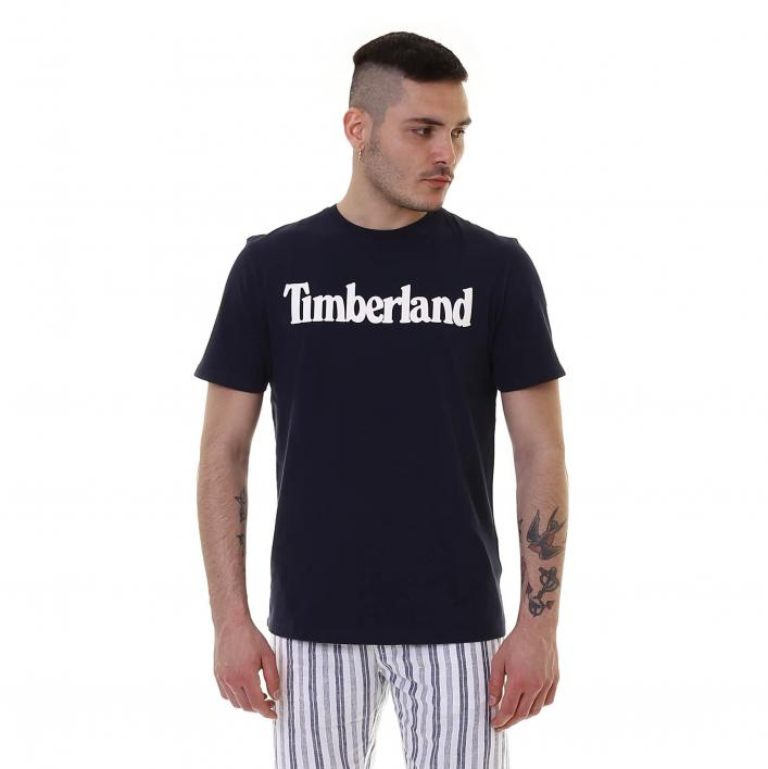 TIMBERLAND SS KENNEBEC RIVER BRAND LINEAR TEE