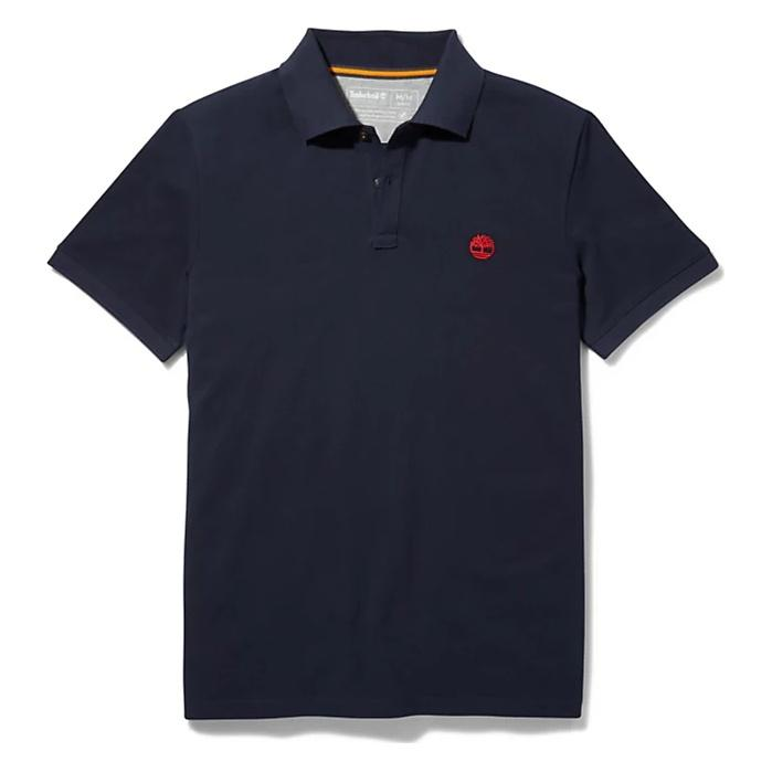 TIMBERLAND SS MILLERS RIVER COLLAR JACQUARD POLO
