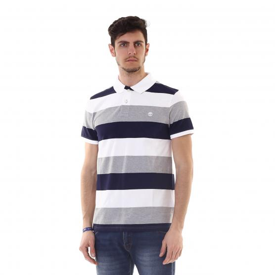 TIMBERLAND SS MILLERS RIVER PIQUE WIDE STRIPE POLO A94