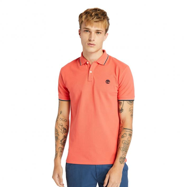 TIMBERLAND SS MILLERS RIVER TIPPED PIQUE POLO