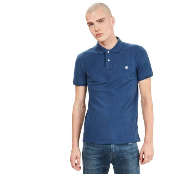 TIMBERLAND SS STRCH PIQUE POLO SLIM DARK DENIM