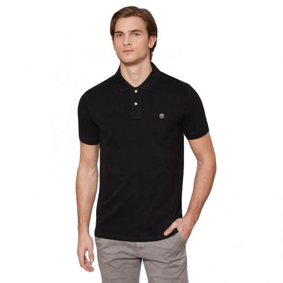 TIMBERLAND STRCH PIQUE POLO SLIM BLACK