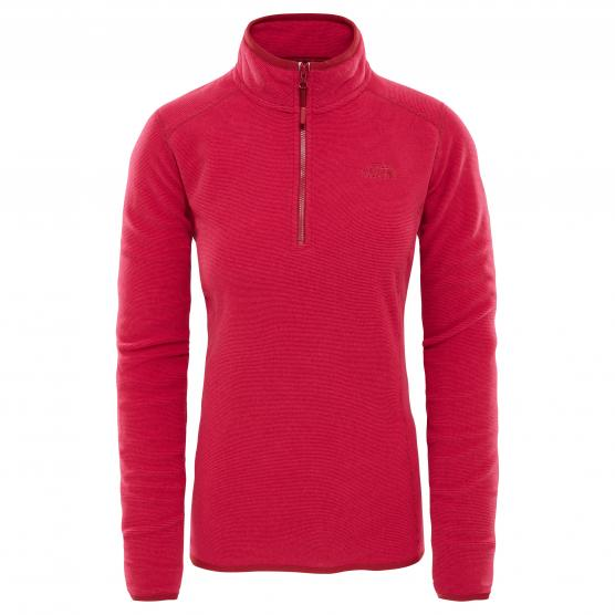 THE NORTH FACE W 100 GLACIER 1/4 ZIP RUMBA