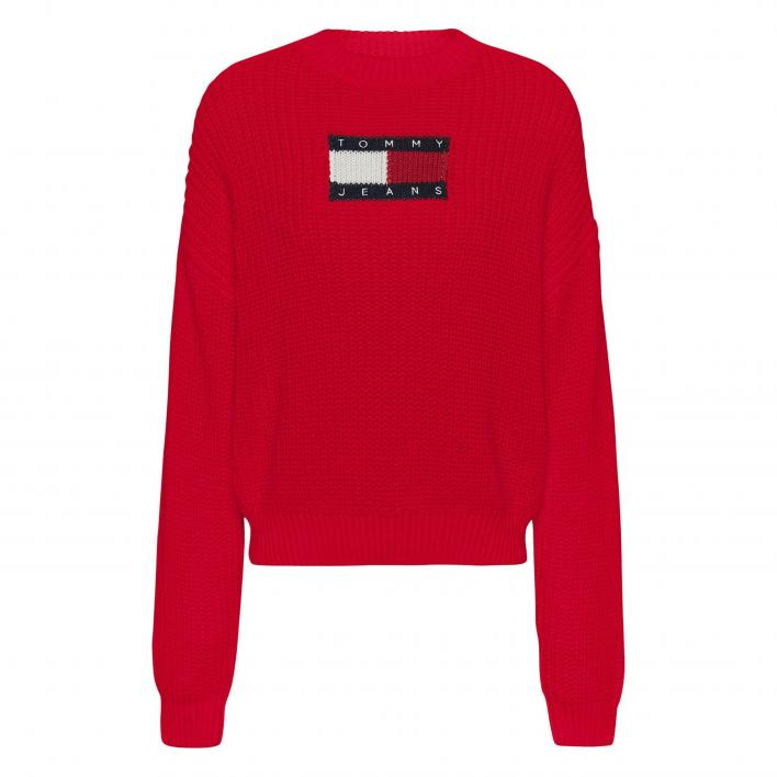 TOMMY JEANS CENTER FLAG SWEATER