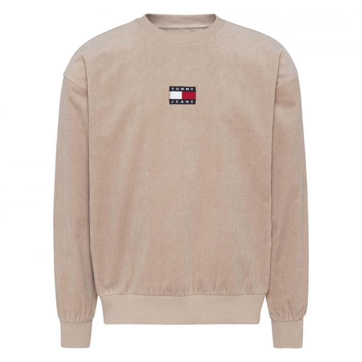 TOMMY JEANS CORDUROY BADGE SWEAT