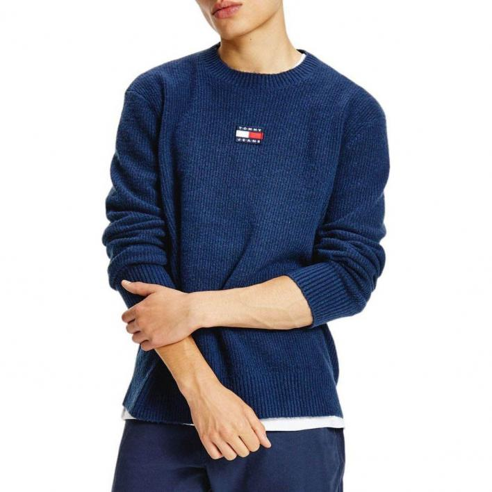 TOMMY JEANS SOLID BADGE SWEATER