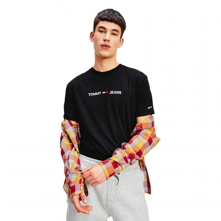 TOMMY JEANS TJM STRAIGHT LOGO TEE