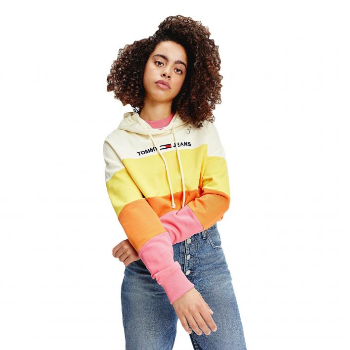 TOMMY JEANS TJW COLORBLOCK HOODIE