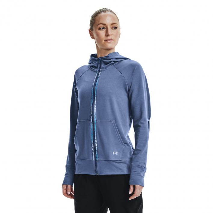 UNDER ARMOUR RIVAL TERRY TAPED FZ KAPUZENPULLOVER