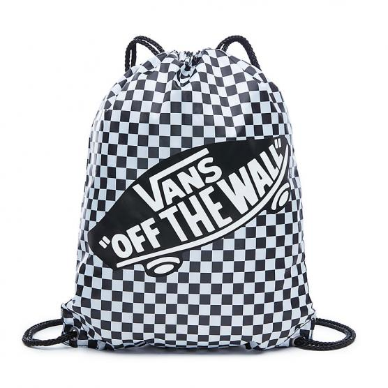 e9eb97451c VANS BENCHED BAG BLACK WHITE CHECKERBOARD