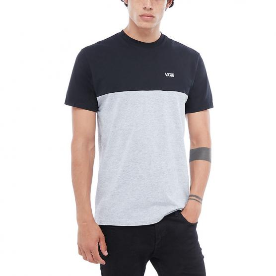 VANS COLORBLOCK TEE BLACK ATHLETIC HEATHER
