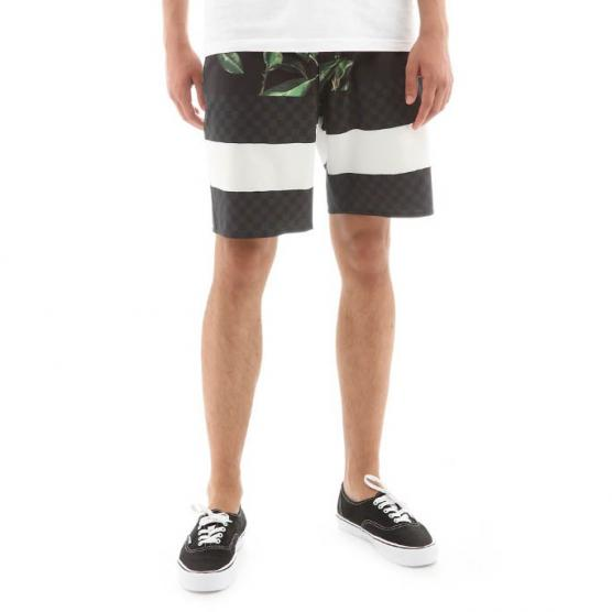 VANS MN ERA BOARDSHORT 19 RUBBER CO.FLORAL/BLACK