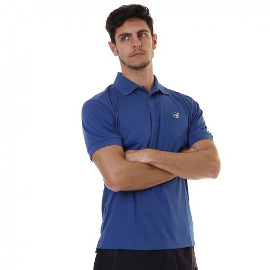 WILSON MENS AUTHENTIC POLO BLU