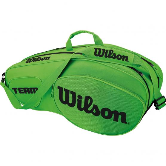 WILSON TEAM GREEN 6 PACK