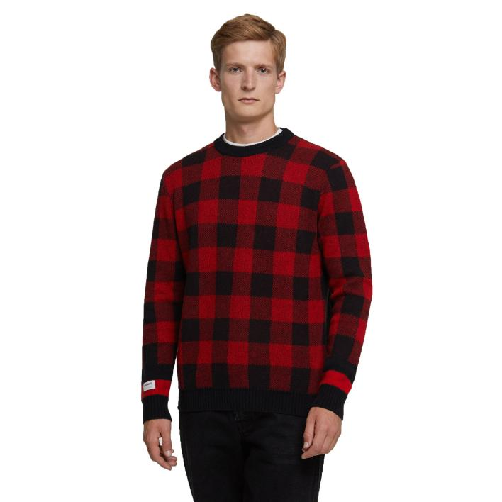 WOOLRICH BUFFALO CHECK CREW NECK