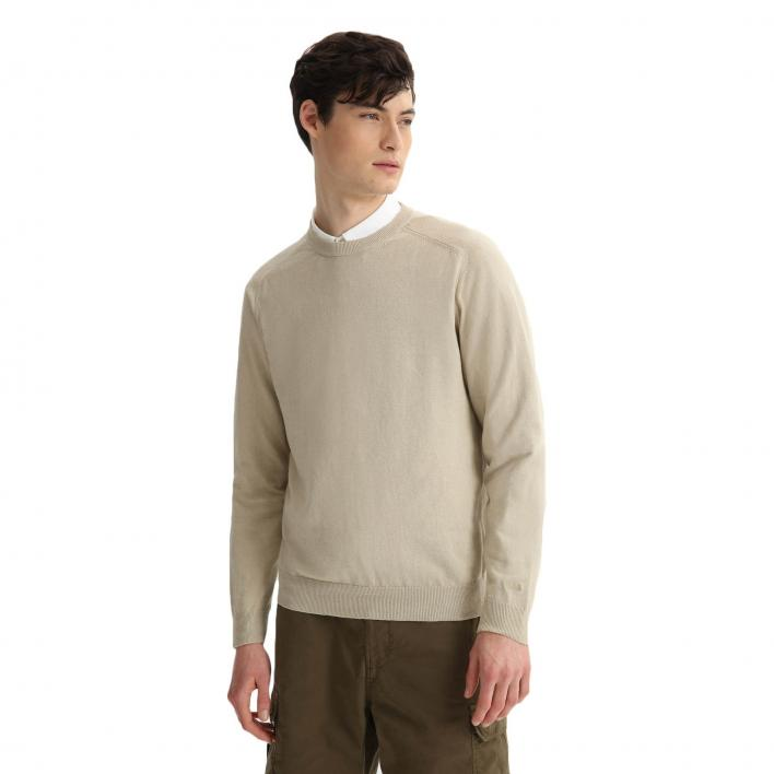 WOOLRICH COTTON LINEN GD CREW NECK