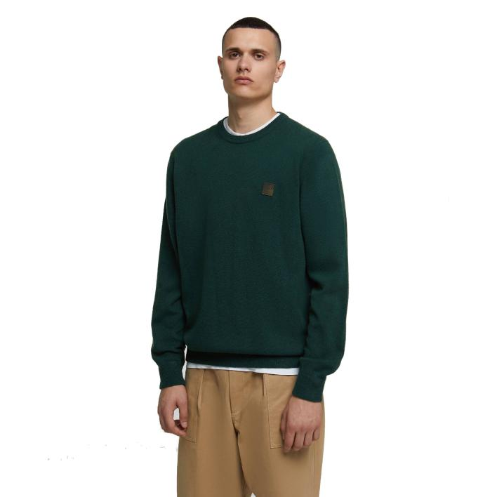 WOOLRICH LOGO PATCH CREW NECK
