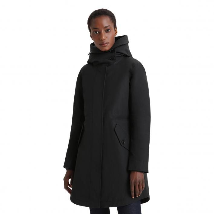 WOOLRICH LONG MILITARY PARKA 3 IN 1