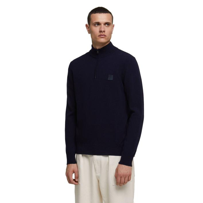 WOOLRICH SUPERGEELONG LOGO TURTLE NECK