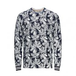 jack jones all-over printed leaves pullover 148236