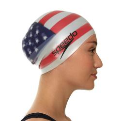 speedo national flag silcon cap