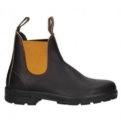 BLUNDSTONE EL SIDE BOOT BROWN LEATHERMUSTARD