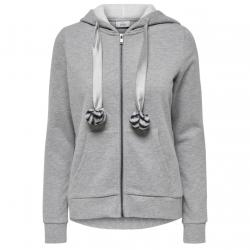ONLY MAMBO L/S ZIP HOOD POM POM CS SWT - gallery 1