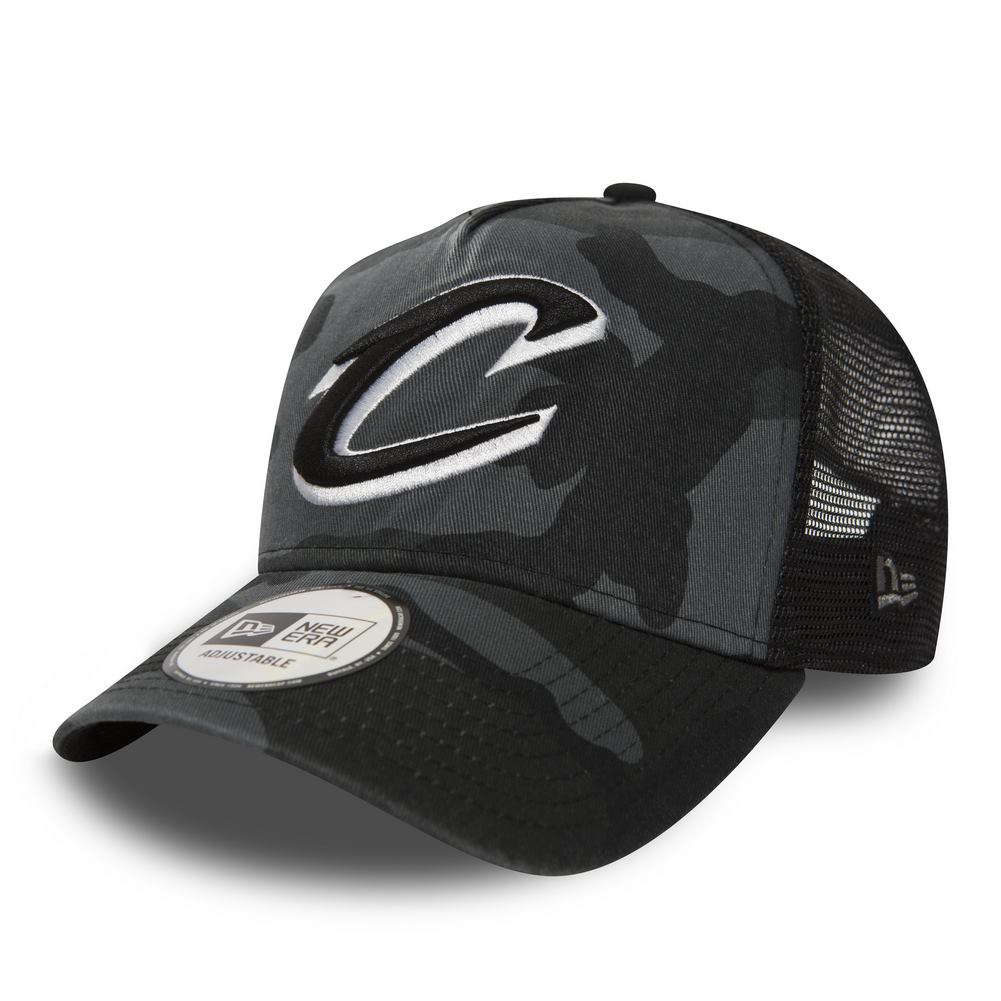 NEW ERA WASHED CAMO TRUCK CLEVELAND CAVALIERS MNC 960