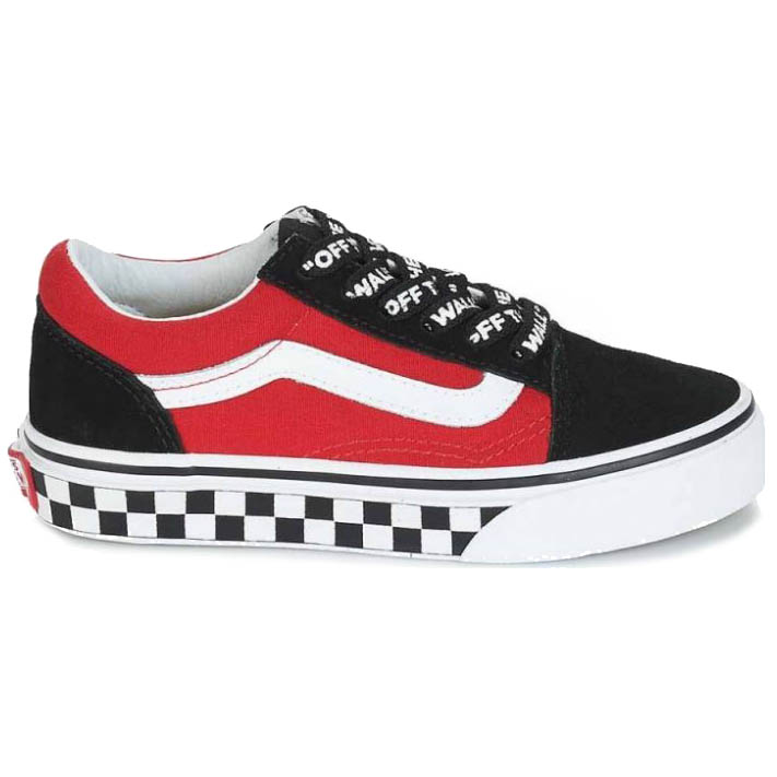 Vans Skool Checkerboard Old Red Black And gf6byY7