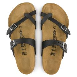 BIRKENSTOCK MAYARI BLACK OILED LEATHER - gallery 2